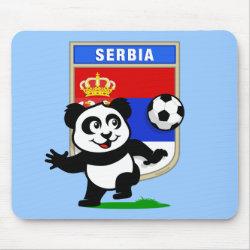 Mousepad with Serbia Football Panda design