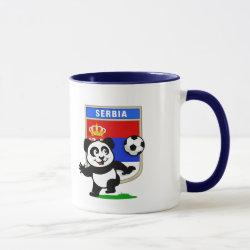 Combo Mug with Serbia Football Panda design
