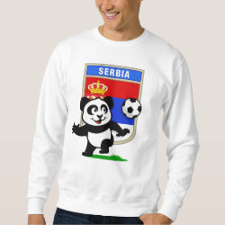 Men's Basic Sweatshirt with Serbia Football Panda design