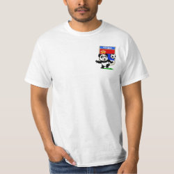 Men's Crew Value T-Shirt with Serbia Football Panda design