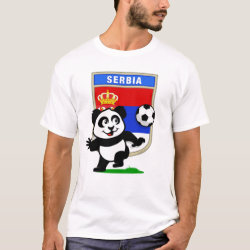 Men's Basic T-Shirt with Serbia Football Panda design