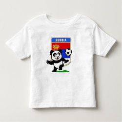 Toddler Fine Jersey T-Shirt with Serbia Football Panda design