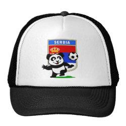 Trucker Hat with Serbia Football Panda design