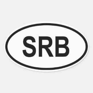 "Serbia ""SRB"" Oval Stickers"