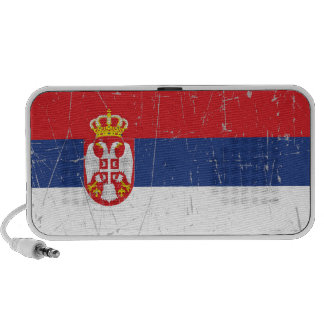 Serbia sScuffed and Scratched Serbian Flag iPhone Speaker