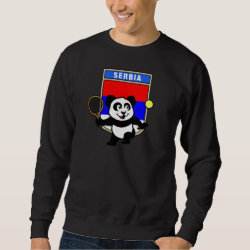Men's Basic Sweatshirt with Serbia Tennis Panda design