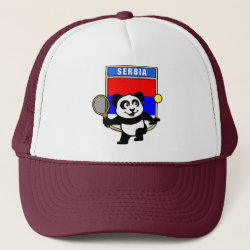 Trucker Hat with Serbia Tennis Panda design