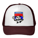 Serbia Tennis Panda Trucker Hats