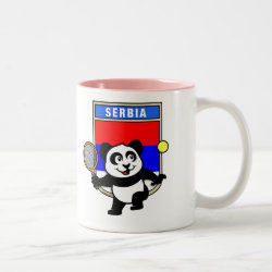Two-Tone Mug with Serbia Tennis Panda design