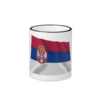 Serbia Waving Flag Ringer Coffee Mug