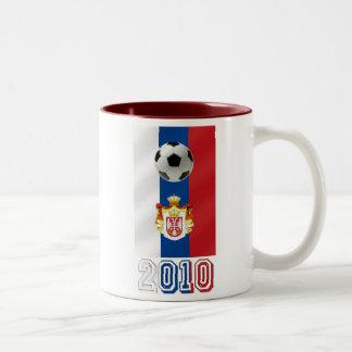 Serbia White Eagles 2010 world cup gifts Two-Tone Coffee Mug