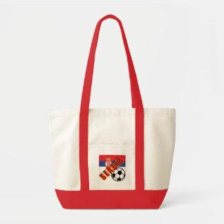 SERBIA World Soccer Fan Tshirts Tote Bags