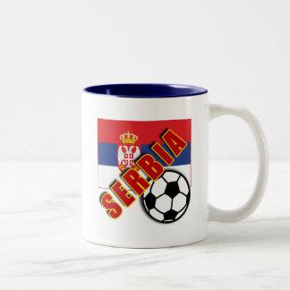SERBIA World Soccer Fan Tshirts Two-Tone Coffee Mug