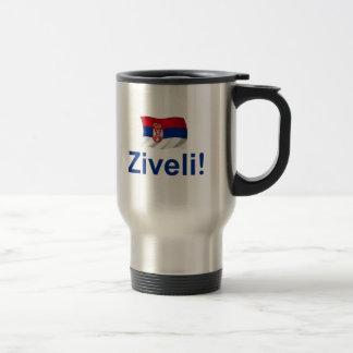 Serbia Ziveli! 15 Oz Stainless Steel Travel Mug