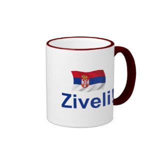Serbia Ziveli! Ringer Coffee Mug