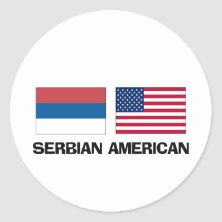 Serbian American Classic Round Sticker