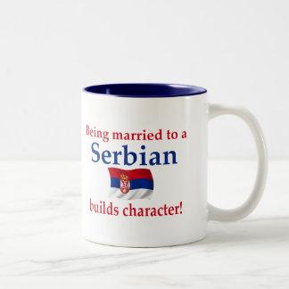 Serbian Builds Character Two-Tone Coffee Mug