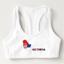 Serbian country flag sports bra