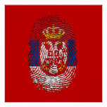 Serbian fingerprint DNA Serbia pride gifts Posters
