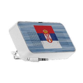 Serbian Flag Floating on water Portable Speaker