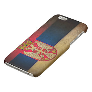 Serbian flag glossy iPhone 6 case