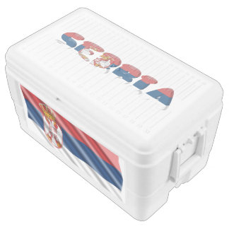 Serbian flag ice chest