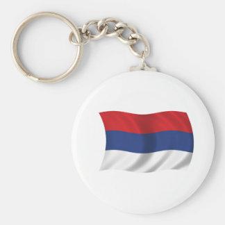 Serbian flag keychain