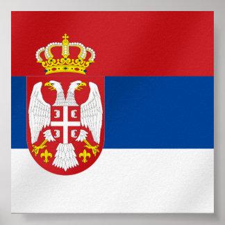 Serbian Flag of Serbia - Show off for Srbija Poster