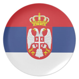 Serbian Flag Party Plate