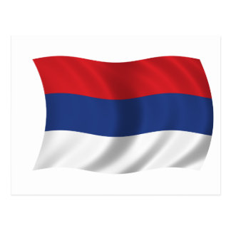 Serbian flag postcard