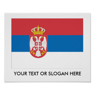 Serbian Flag Posters