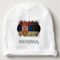 serbian flag ripped baby beanie