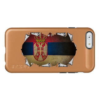 serbian flag ripped incipio feather shine iPhone 6 case