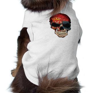 Serbian Flag Skull Pet Tshirt