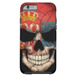 Serbian Flag Skull on Black Tough iPhone 6 Case