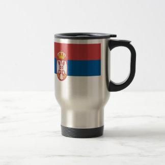 Serbian Flag Travel Mug
