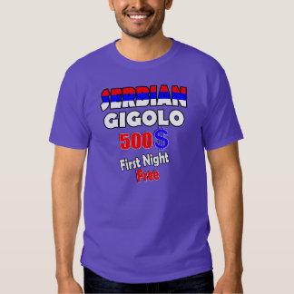 SERBIAN GIGOLO - First Night free T Shirt