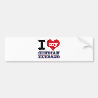 Serbian I heart designs Bumper Sticker