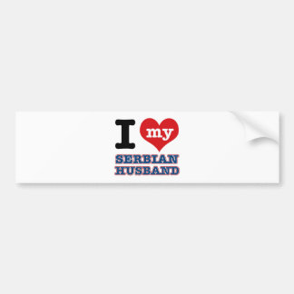 Serbian I heart designs Car Bumper Sticker