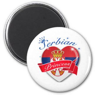 Serbian Princess 2 Inch Round Magnet