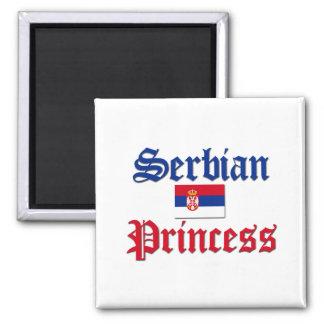 Serbian Princess 2 Inch Square Magnet