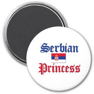 Serbian Princess 3 Inch Round Magnet