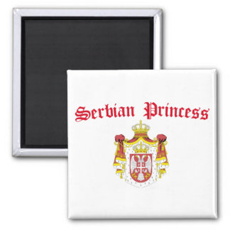 Serbian Princess (with Serbia Coat of Arms) 2 Inch Square Magnet