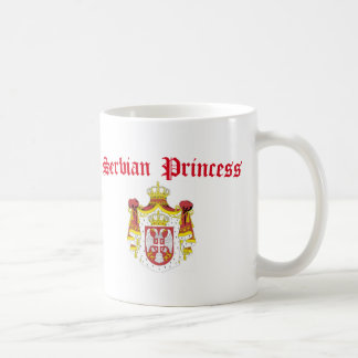 Serbian Princess (with Serbia Coat of Arms) Classic White Coffee Mug