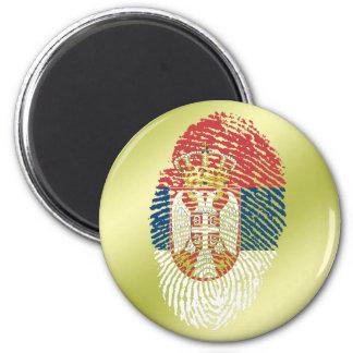 Serbian touch fingerprint flag 2 inch round magnet