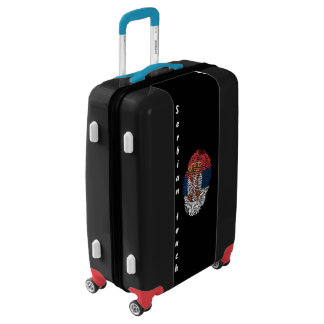 Serbian touch fingerprint flag luggage
