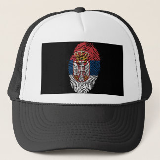 Serbian touch fingerprint flag trucker hat