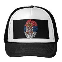 Serbian touch fingerprint flag trucker hat