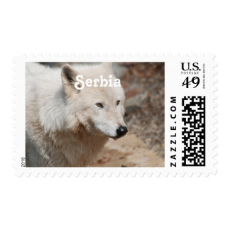 Serbian Wolf Postage Stamps
