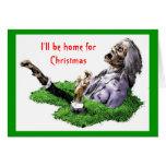 Seré casero para el navidad tarjeta